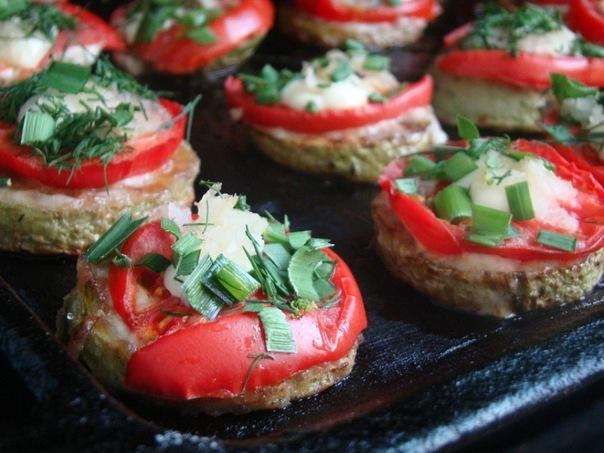 Закуска из кабачков с помидорами