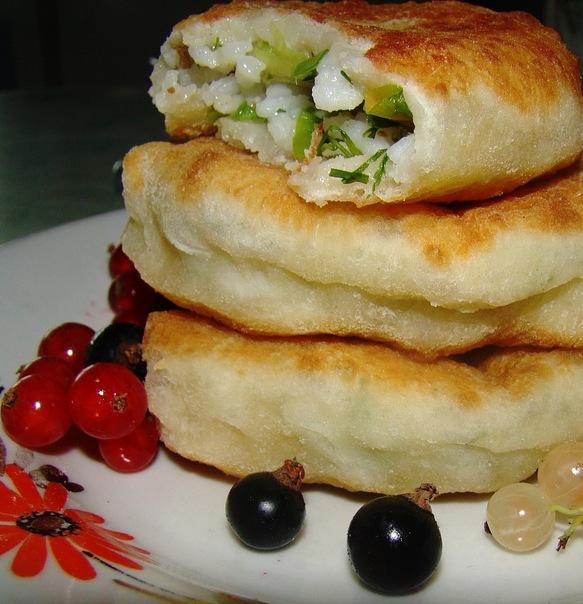 Пирожки с рисом и тофу