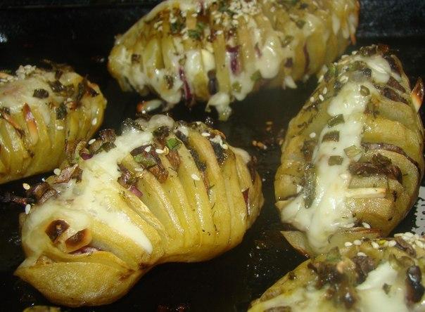 Картофель «Гармошка», запечённый в духовке