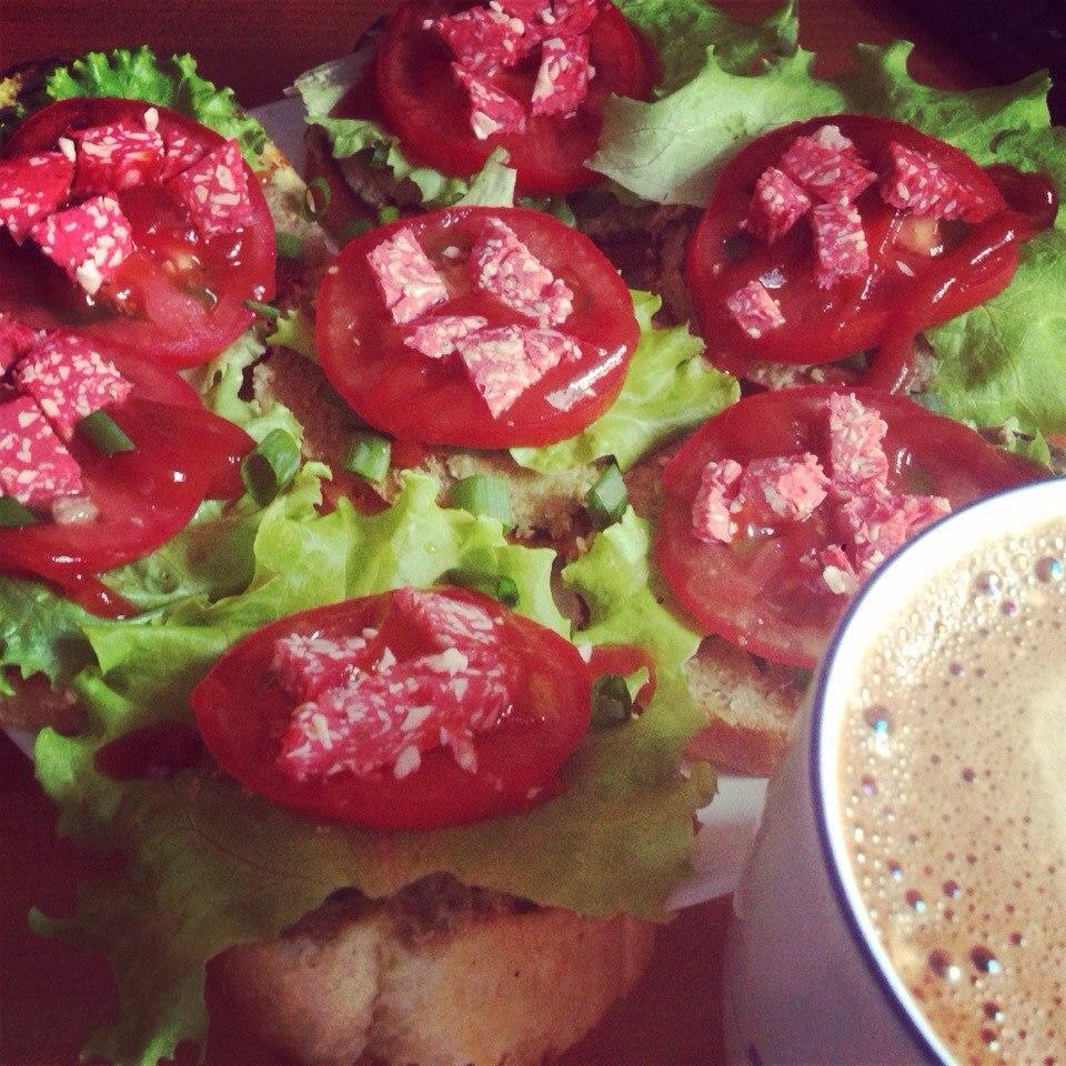 Соевый паштет с грибами + бутерброды