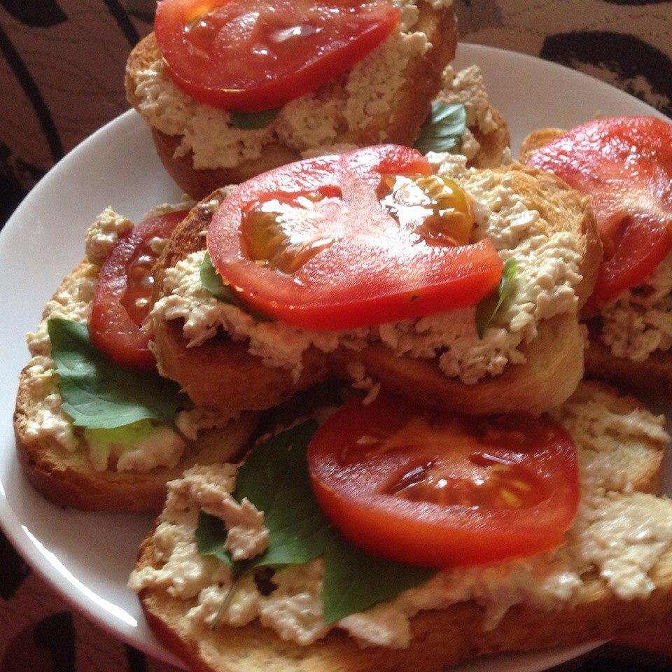 Бутерброды с тофу