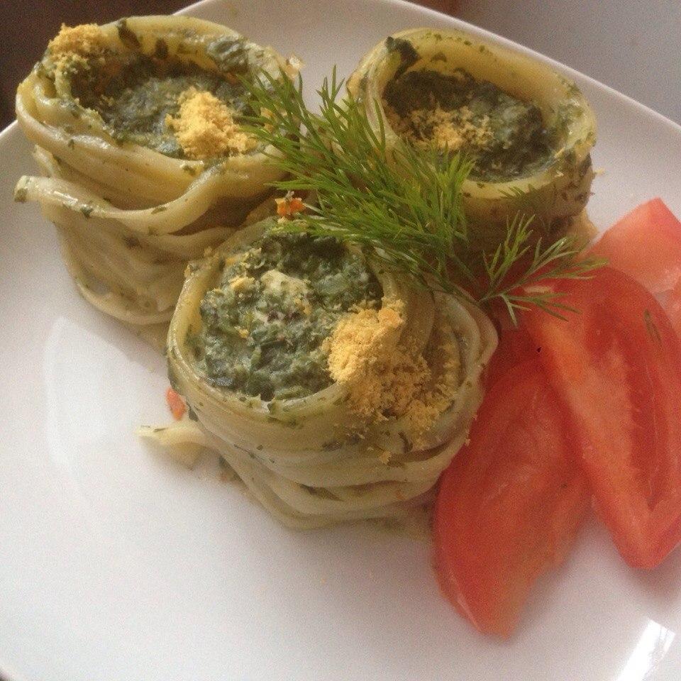 Салангани или гнёзда с тофу и шпинатом