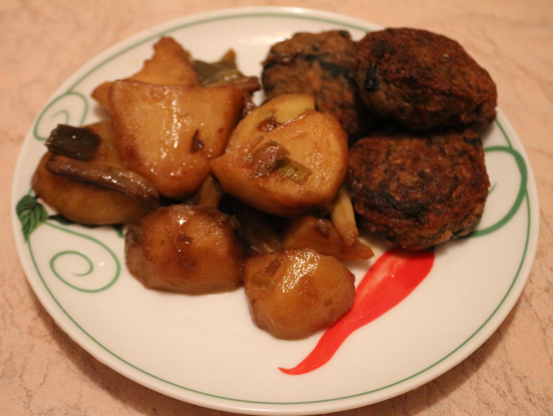 Картофель с двумя видами фасоли
