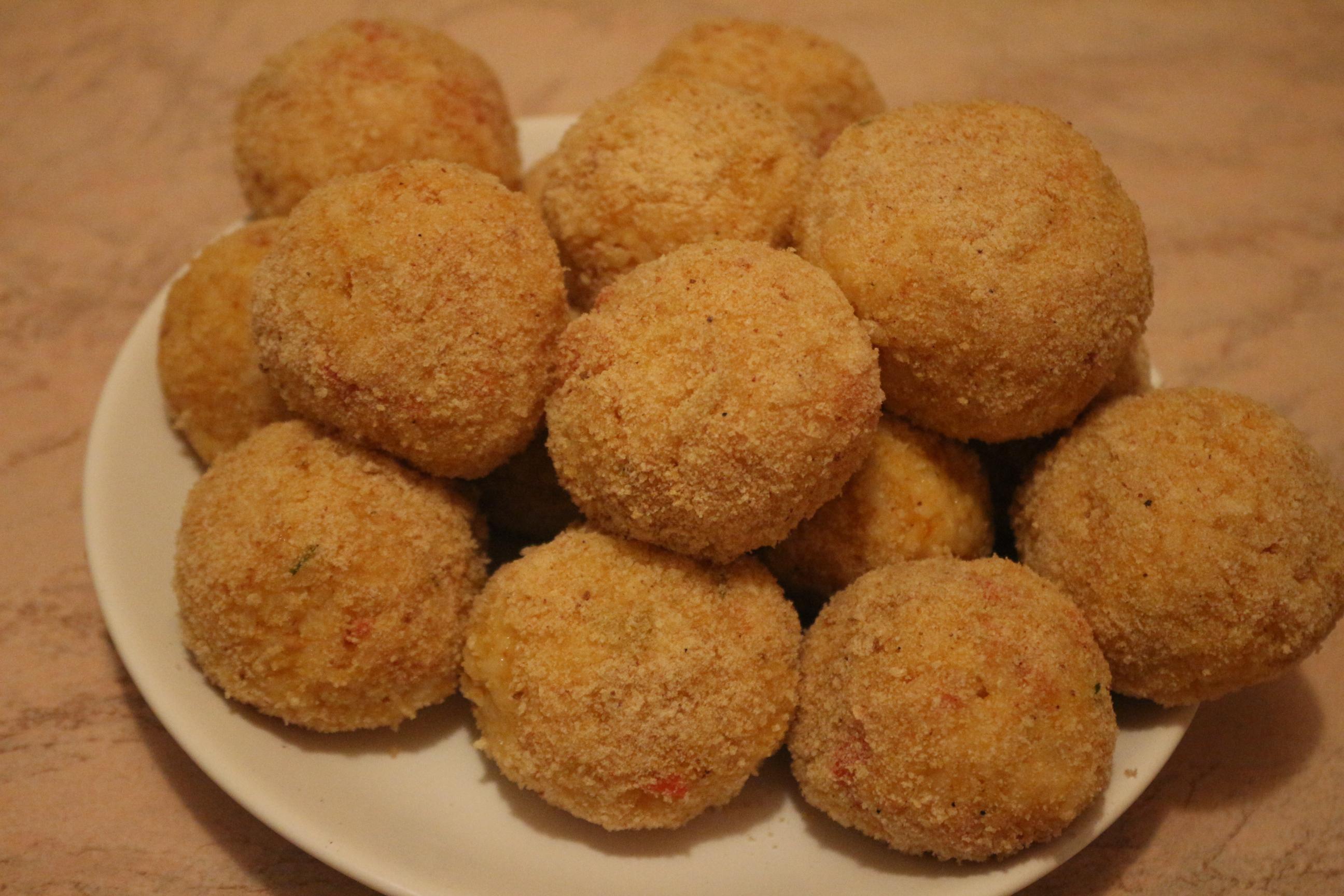Рисовые шарики с сыром рецепт фото пошагово