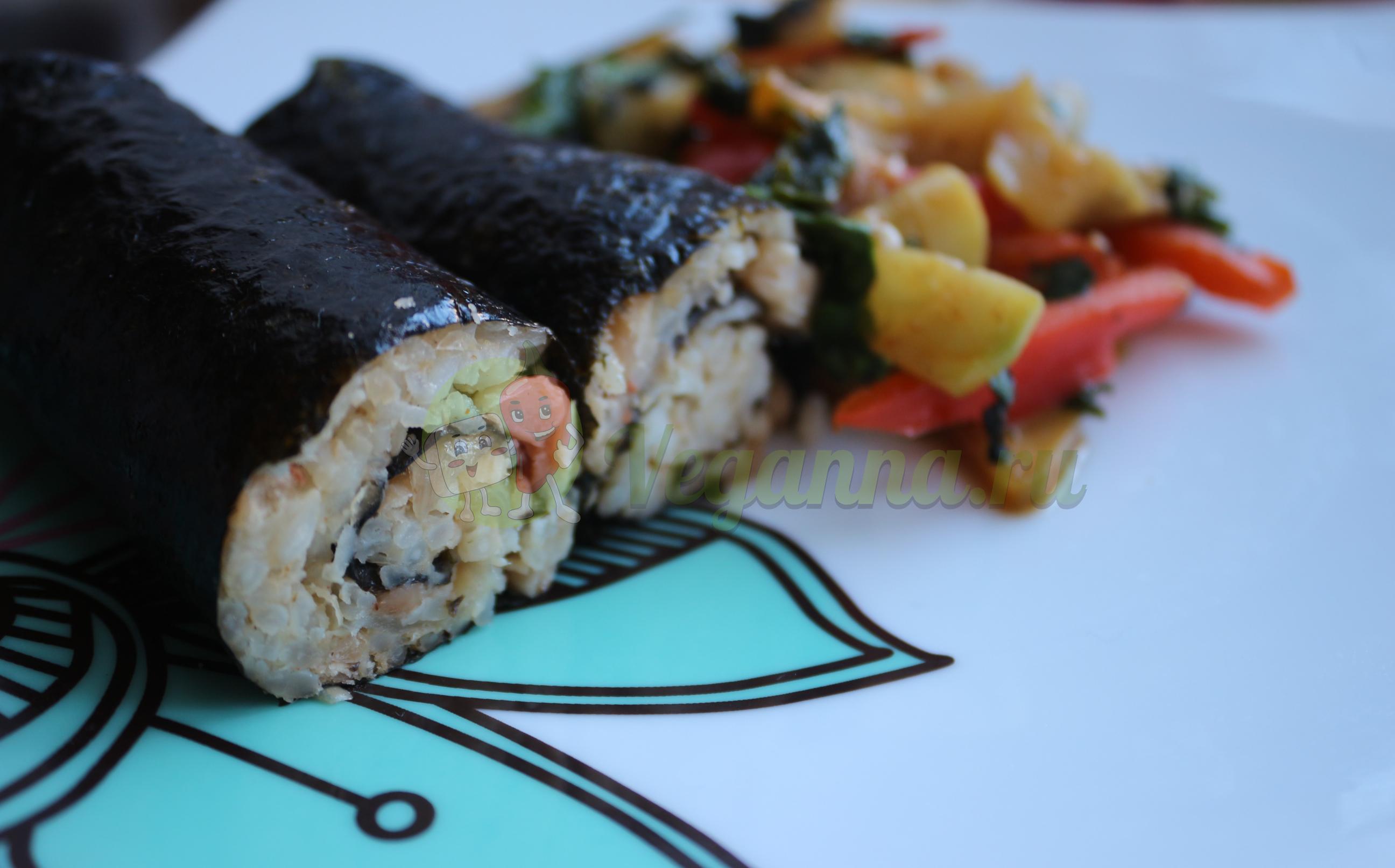 Рисовые рулеты с овощами