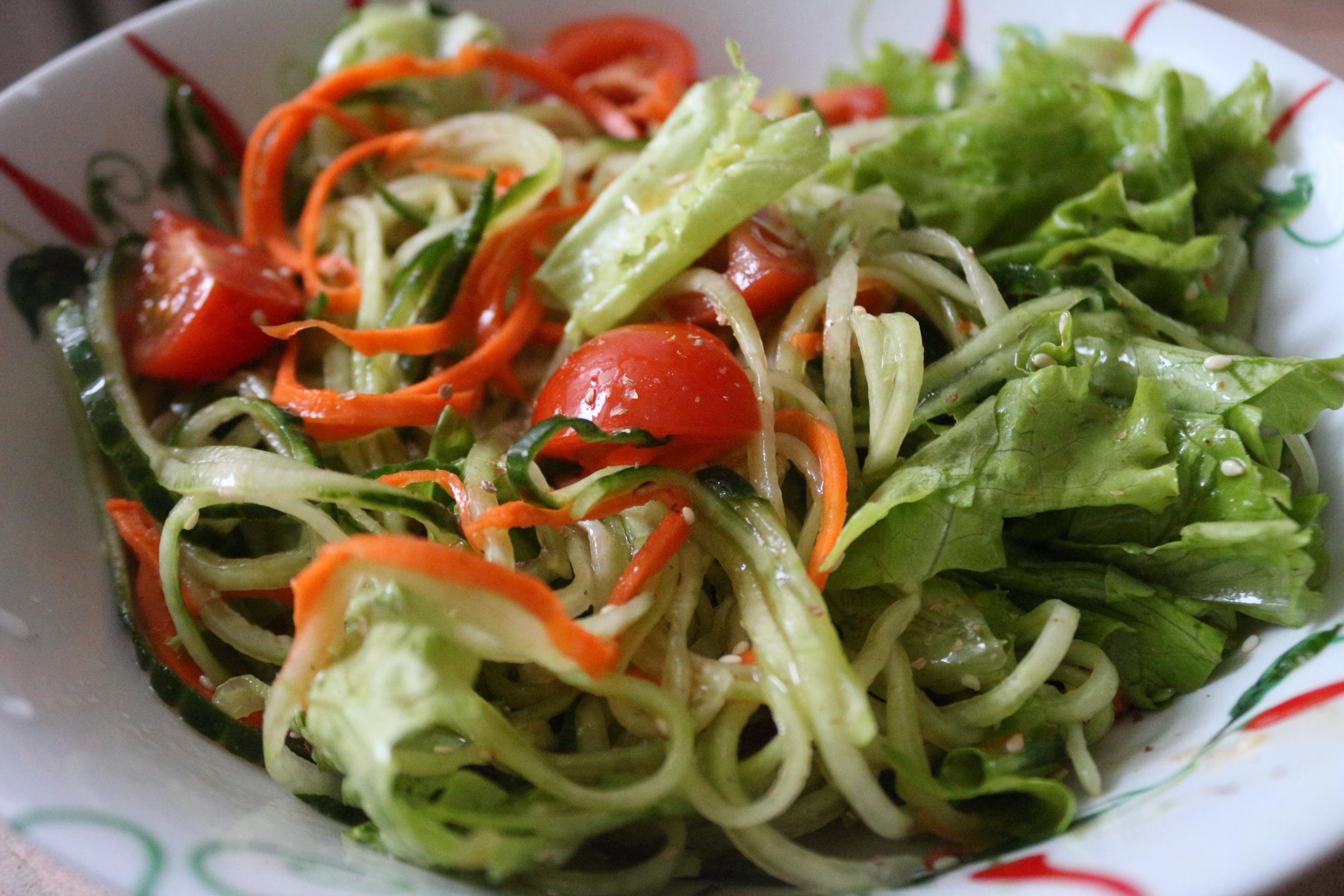Овощной салат с цитрусовой заправкой