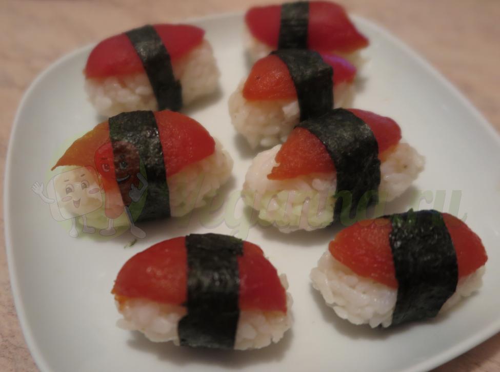Веганский тунец или нигири суши