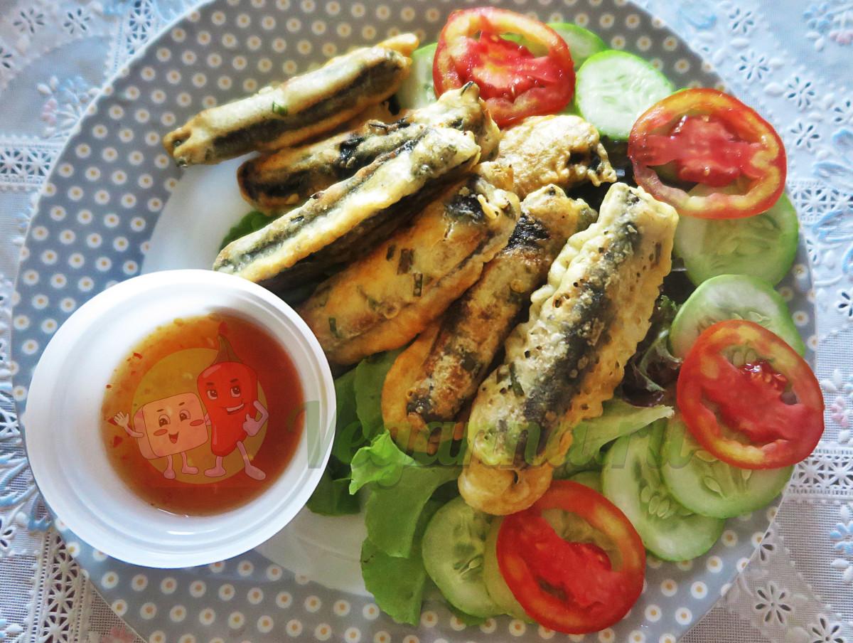 Веганские «рыбные» (морские) палочки из моркови и хрустящие грибы в темпура кляре
