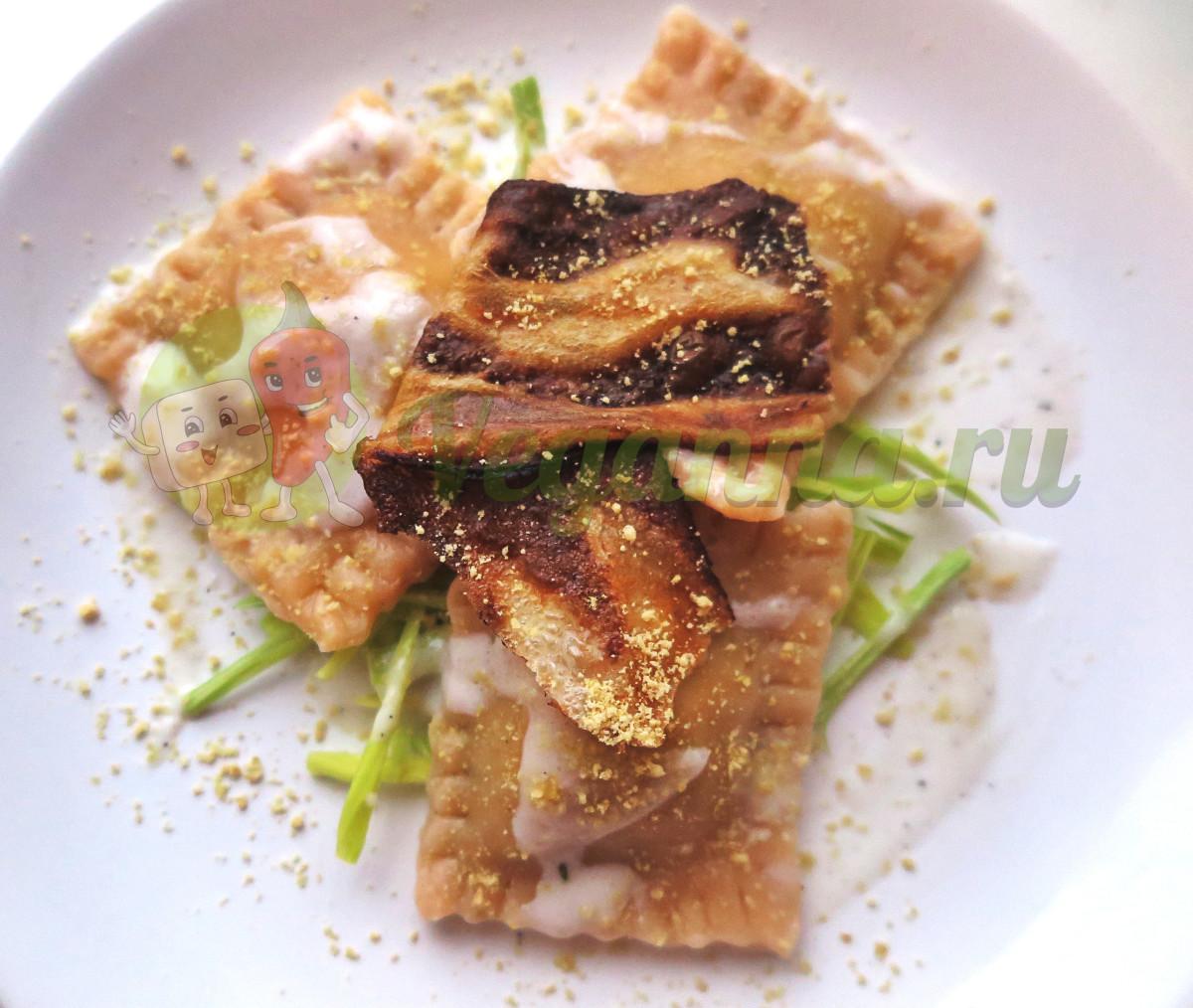 Равиоли с тофу и шпинатом