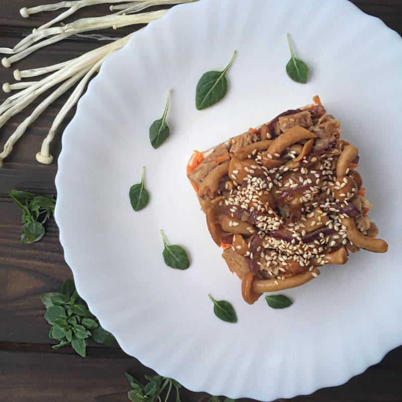 Веганский салат «Грибная поляна»